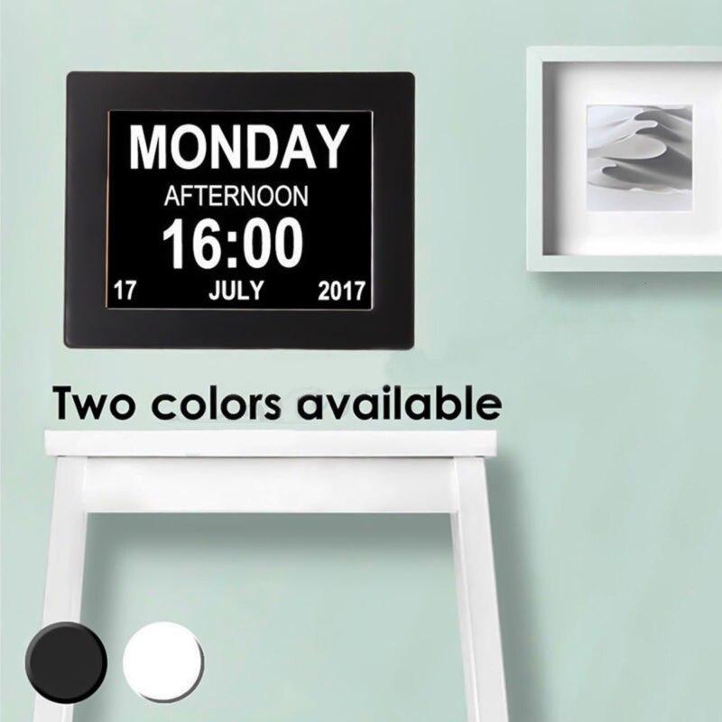 "8"" LED Large Digital Alarm Clock ABS Wall Hanging Calendar Date Time Display Table Clocks DC 5V 1A EU Adapter desk Clock"