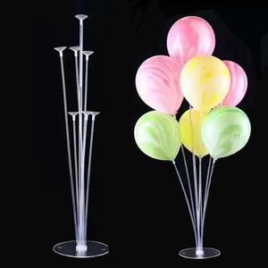 7 Tubes/1Set Plastic Balloons Column Stand Balloon Support Birthday Party Decoration Valentines Day Wedding Decoration