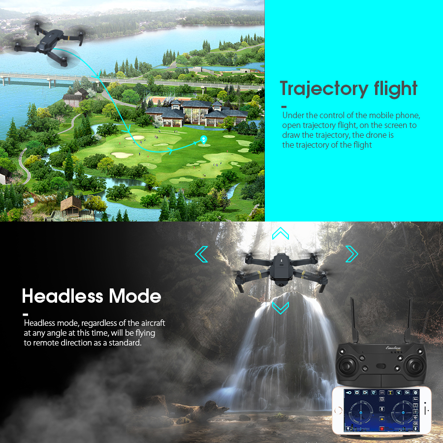 Eachine E58 WIFI FPV with 720P/1080P Wide Angle HD Camera 13