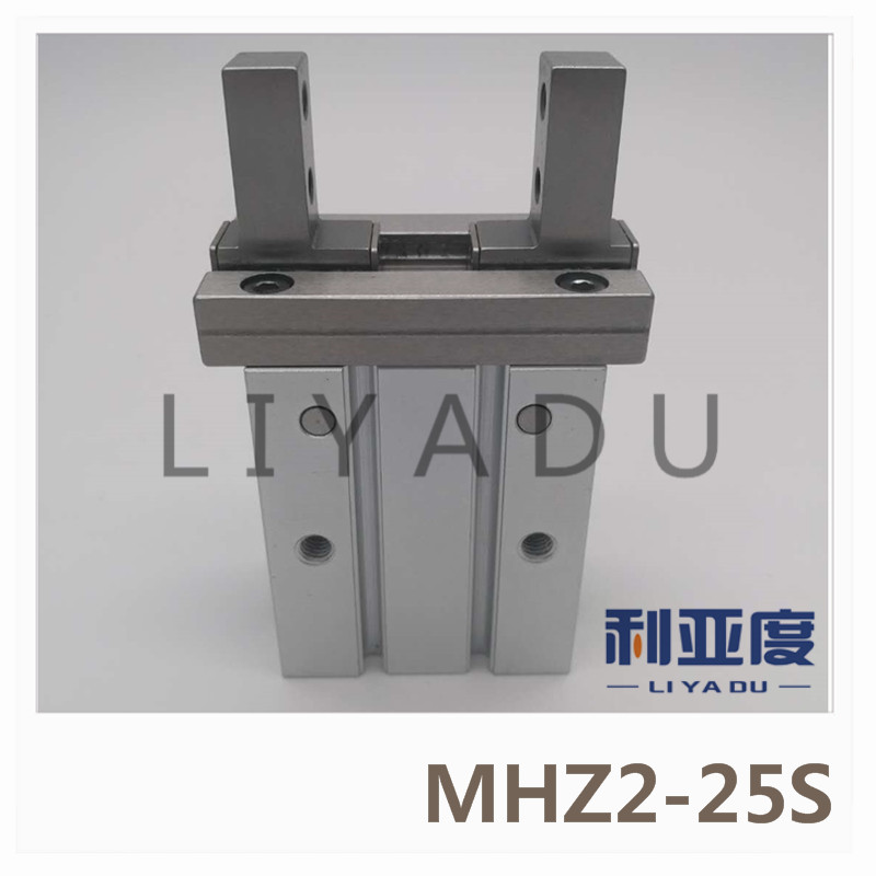 MHZ2-25S Parallel open and close type gas claw / finger / cylinder Single action gripper bore 25mm mhz2 6s mhz2 6s1 mhz2 6s2 high quality pneumatic finger cylinder parallel open single action open air claw