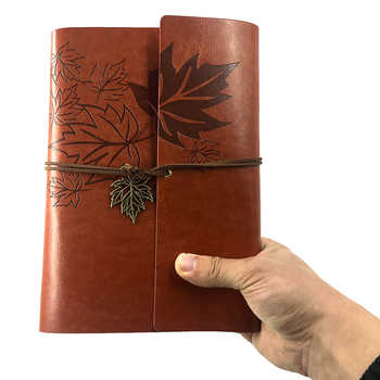 RuiZe vintage dairy traveler notebook A5 leather journal book with blank pages 6 ring binder spiral notebook school stationery