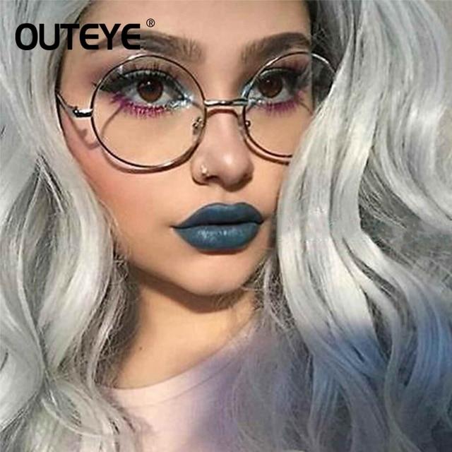 bb68c4344a Vintage Round Clear Glasses Eyewear Fashion Women Transparent Optical Eye  Glasses Frames Preppy Style Eyeglasses Fake