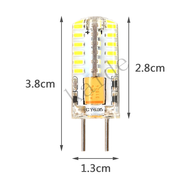 5PCS GY6.35 Led 3W Bulb 3014SMD 48LEDS Coldwhite Warmwhite AC/DC12V Transparent Soft Silicone Replace The Halogen Lamp