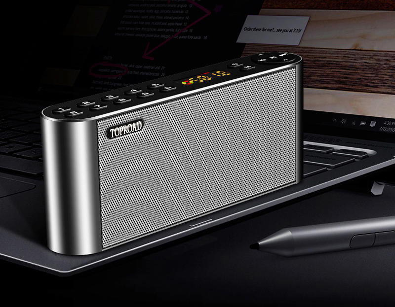 TOPROAD HIFI Wireless Bluetooth Speaker With Super Bass Dual Speakers Soundbar And FM Radio 13