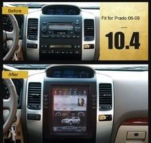 "Otojeta Vertical 10.4 ""Quad Core Android 6.0 2 gb ram Coche DVD GPS NAVI Para Toyota PRADO lc120 2006-09 Multimedia stereo headunit"