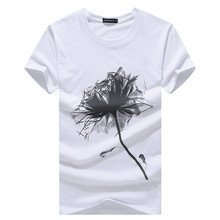 New summer style floral print t-shirt men cotton short sleeve men Clothing Male Slim Fit t shirt brand casual mens tops tees
