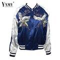 НОВЫЙ 2016 птица Феникс вышитые женщин куртки мода бомбардировщик куртка для девочек женщин пальто chaquetas mujer пилоты верхняя одежда