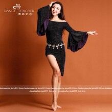 2017 new velvet woman Bellydance Costume Dancer Clothing dress for bellydance wear S/M/L/XL 007