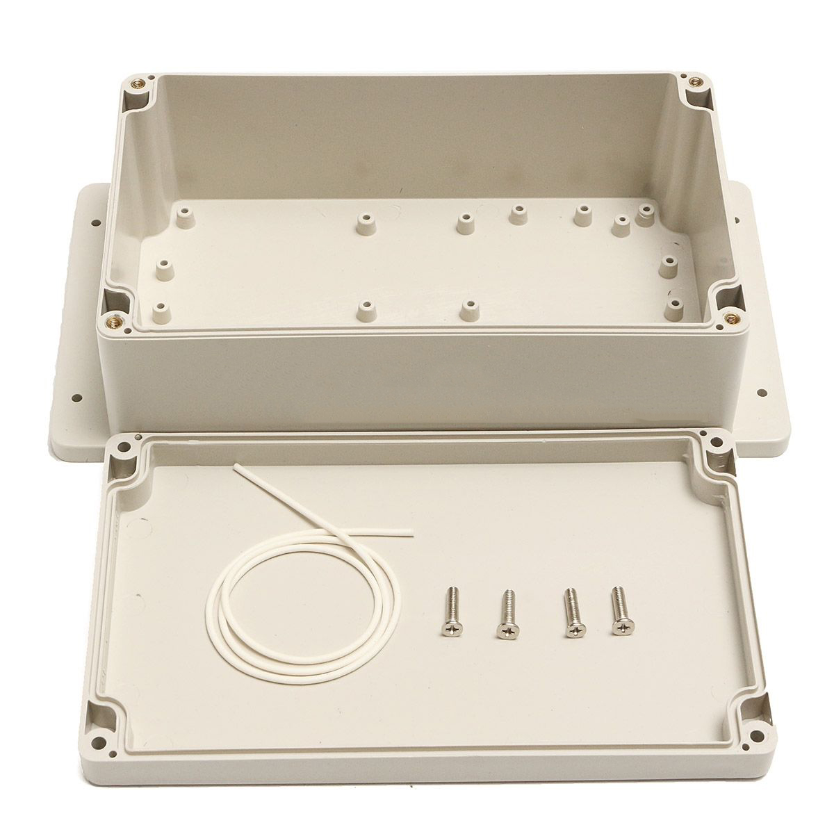 1pc Waterproof IP65 Enclosure Box ABS Plastic Electronic Project Instrument Case 200*120*75mm with 4pcs Screws and Sealed Line waterproof abs plastic electronic box white case 6 size