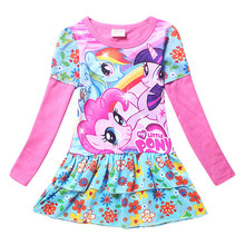 3 10Y girls dress vestidos my little girls clothes pony kids dresses for girls costume cartoon