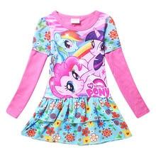 3-10Y girls dress vestidos my little girls clothes pony kids dresses for girls costume cartoon baby kids dress vestido infantil