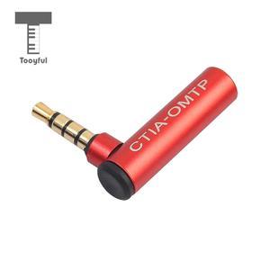 3.5mm omtp para ctia fone de ouvido microfone conversor adaptador ângulo direito