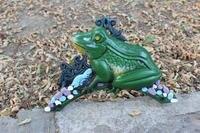 Garden Hose Reel Holder Frog Cast Iron Water Hose Hanger Storage Wall Mounted Metal Garden Yard
