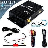 ארצות הברית HD/SD ערוץ רכב ATSC הדיגיטלי קרקעי מקלט טלוויזיה צפייה חינם מקלט 4 וידאו החוצה + רכב מגבר פעיל אנטנה