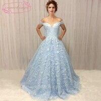 SuperKimJo Robe De Soiree Lace Applique A Line Prom Dresses 2018 Off Shoulder Beaded Elegant Prom