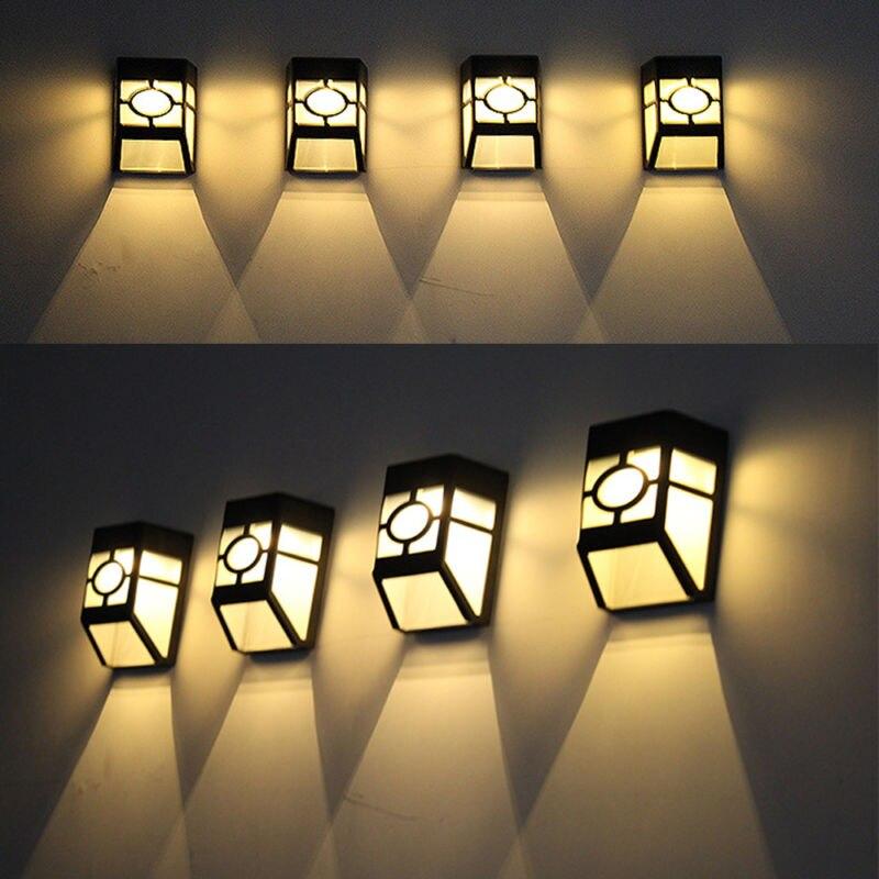 10 Pc 2 LEDs lumière solaire Conservation de l'énergie solaire lampe de jardin étanche en plein air économie d'énergie rue cour chemin applique murale