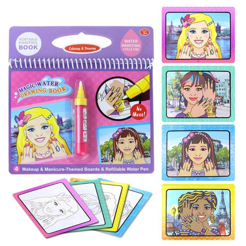 Opakovatelné zbarvení Magic Vodní malba Kniha Kid Doodle Písmena - Učení a vzdělávání - Fotografie 4