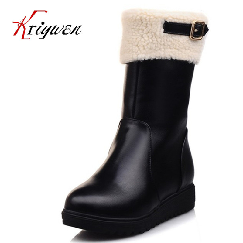 2017 winter Autumn plush warm snow boots female round toe Women motorcycle Boots low heels sweet lovely shoes party martin boots autumn winter women martin snow boots