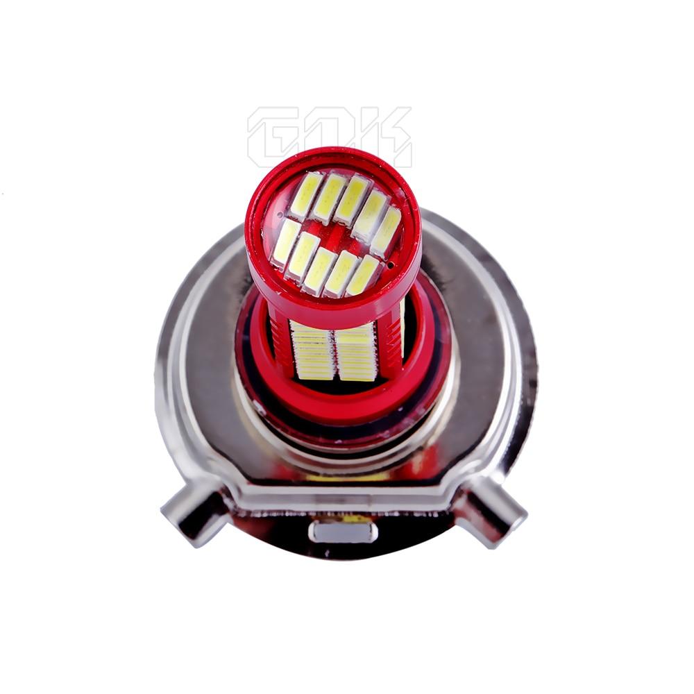 1 х H4 светодиодный высокомощный свет для Светодиодный 4014 106SMD противотуманный фонарь противотуманная фара светодиодный фара для вождения H7 H4 H8 Автомобильная фара лампа
