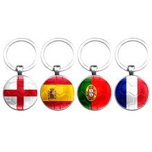 ФОТО 5-0 nation country flag key chains football fans keychain pendant keyring party carnival souvenir key chain jewelry 2018 hot