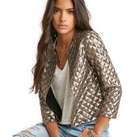 Blazer Women Fashion Tops New Lozenge Women Gold Sequins Jackets Three Quater Sleeve Coats Outwears Wholesize