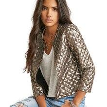 Blazer Женщины Мода Топы Новый Ромб Женщины Золотые Блестки Куртки Три Четверти Рукава Пальто Outwears Wholesize DM S-2XL #6(China (Mainland))