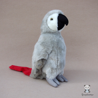 Real Life Plush Toy Gray Macaw Doll Kids Toys Birthday Gifts High Quality Stuffed Animals Parrot Dolls