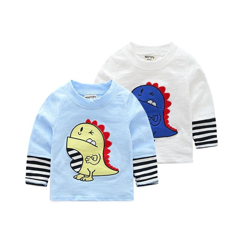 2-8y kinderen t-shirts cartoon katoen lange mouw baby jongens kleding o meisjes kleding kids top tees jongens t-shirt