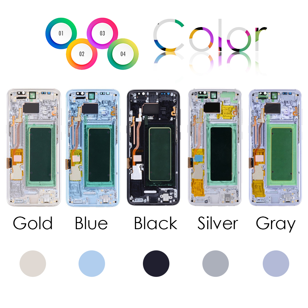 Sinbeda Super AMOLED LCD For SAMSUNG GALAXY S8 Screen G950F G955 G955F G955A LCD Display Touch Screen Digitizer Assembly Frame Sinbeda Super AMOLED LCD For SAMSUNG GALAXY S8 Screen G950F G955 G955F G955A LCD Display Touch Screen Digitizer Assembly Frame