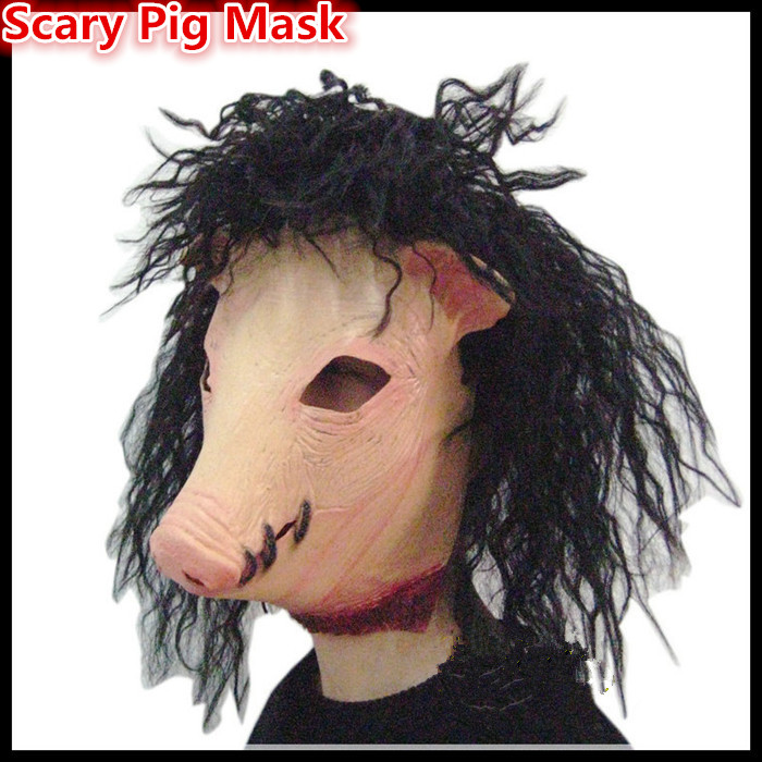 Free shipping Halloween Party Cosplay Magical Creepy Adult Pig Head Latex Rubber Mask Animal Costume Prop Toys Jigsaw Pig Mask & ? ?Free shipping Halloween Party Cosplay Magical Creepy Adult Pig ...