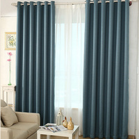 Modern Solid Colors Faux Linen Curtains For Living Room Bedroom Window Blinds Luxury Room Blackout Curtains for Kitchen Drapes