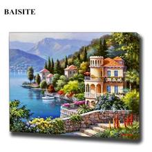 BAISITE DIY Acrylic Painting By Numbers Hand Painted On Canvas Modern Wall Picture For Living Room Home Decor Wall Art H302