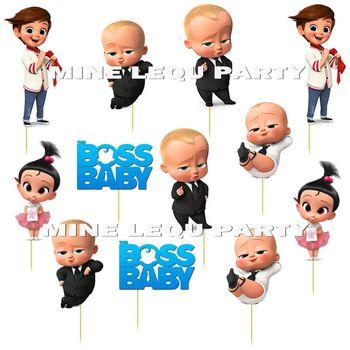 12 sztuk partia Boss Baby Cake Topper urodziny Baby Boss theme Party ciasto Topper ciasto dekoracji Baby Shower zaopatrzenie firm tanie i dobre opinie Panna młoda i Pan Młody Chevron List Zwierząt Odzież Dom ruchome THANKSGIVING Emeryturę Ślub Coco Theme Tektura
