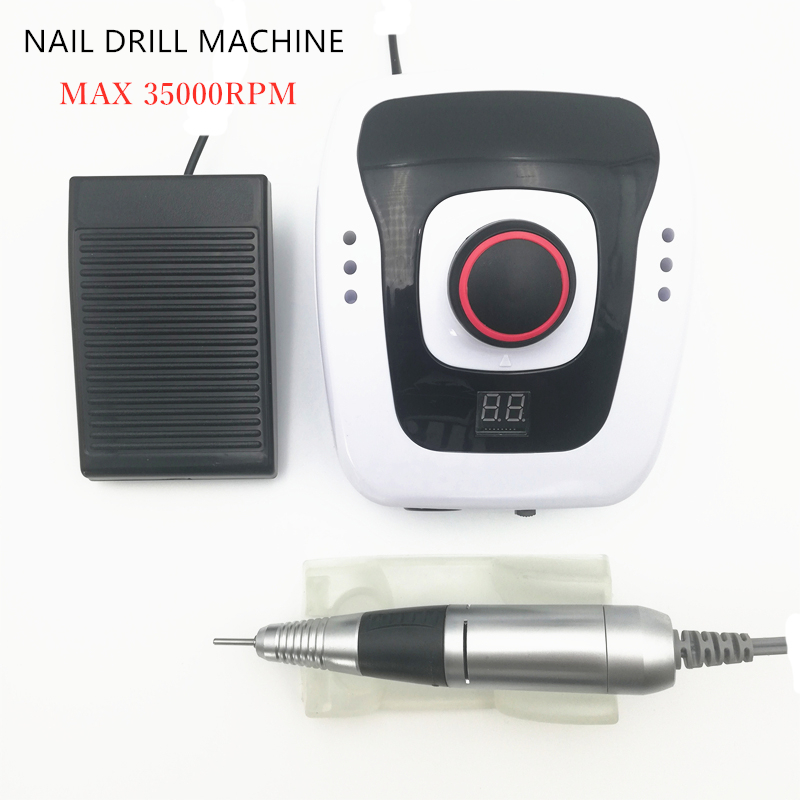 Nail Drill Manicure Machine Set for Nail Pedicure Machine Fingernail Drill 30W 300-35000RPM Electric Equipment Manicure ToolsNail Drill Manicure Machine Set for Nail Pedicure Machine Fingernail Drill 30W 300-35000RPM Electric Equipment Manicure Tools