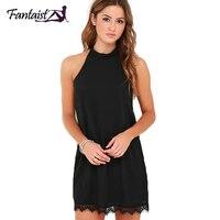 Fantaist 2017 Summer Dress Women Mini Chiffon Party Formal Evening Gowns Dresses Open Back Black Club