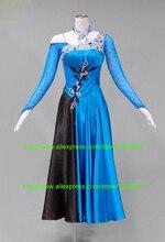 Modern Ballroom Dance Dresses Custom Made Competition Dancing Wear Glass Stone Waltz Tango Flamenco Ballroom Dress Women