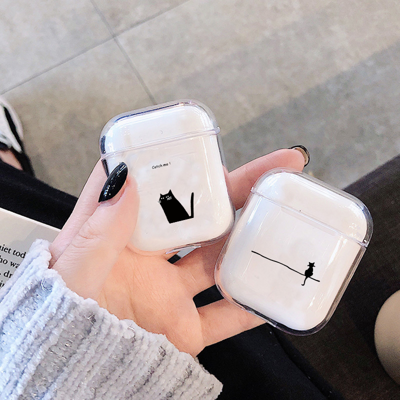 Cartoon Case For Apple Airpods Case Cute Pet Cat Dog Wireless Bluetooth Earphone Case For Airpods Headphone Hard Protective Case