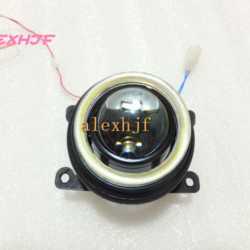 July King Bifocal Lens Fog Lamp COB Angel Eye DRL case for Ford Mondeo Pick-UP Bantam Ecosport Fiesta Focus C-MAX Fuion Ranger
