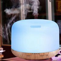 500ml difusor de óleo essencial aroma aromaterapia controle remoto luz da noite névoa fina umidificador casa decoração do quarto carro accessor|Umidificadores|Eletrodomésticos -