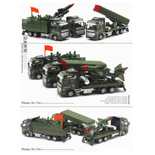 1:48 Diecast High Simulation Alloy Toys Missile launching Vehicle Toy Truck Military Vehicle Pull Back High Simulation Alloy Toy