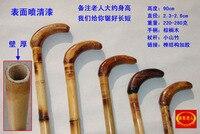 Bamboe riet berg natuurlijke licht stok een massief houten stok bamboe oude man jump multi-werelden en krukken