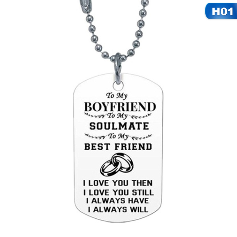 TO MY HUSBAND from Wife Jewelry Dog Tag Pendant Necklace I Love You Still