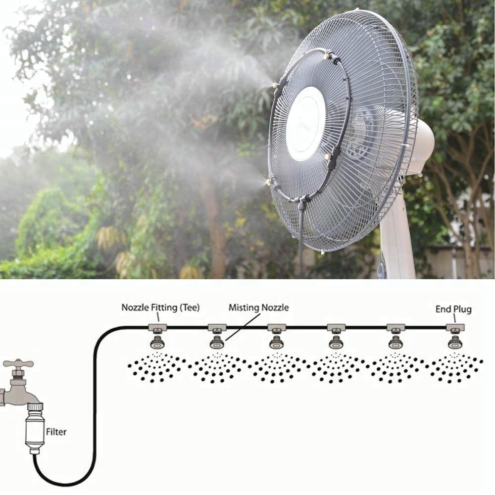C086 Hot selling summer DIY mist fan ring assembled on the ...