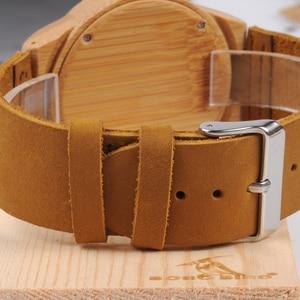 Image 5 - Relogio masculino BOBO VOGEL Mannen Horloge Handgemaakte Groene Houten Horloges Lederen Band Quartz Horloge Accepteren LOGO Drop Shipping