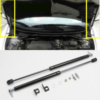 Black Car Accessories Engine Cover Supporting Hood Strut Rod Hydraulic Hood Poles 2PCS For Honda City 2015 2019
