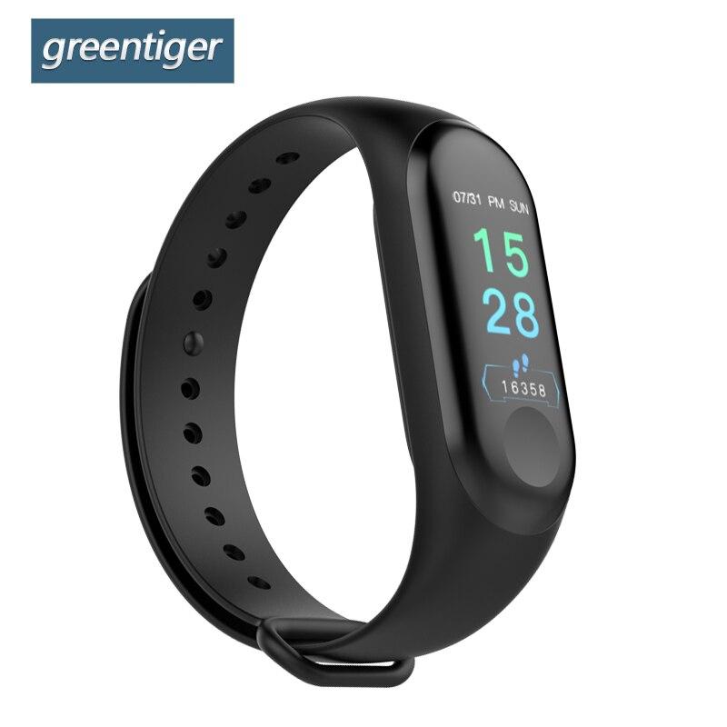 Greentiger M3 Pro Smart Band Wasserdichte Fitness Tracker VS M3 Plus Smart Armband Blutdruck Herz Rate Monitor PK Mi band 3