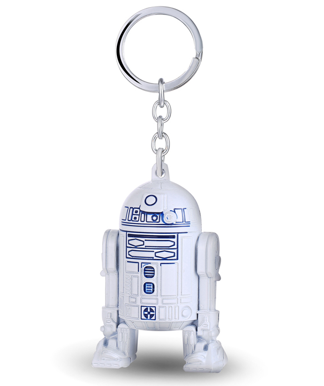MS JEWELS Star Wars 3D Robot R2-D2 Keychain Metal Key Rings For Gift Chaveiro Key Chain Jewelry