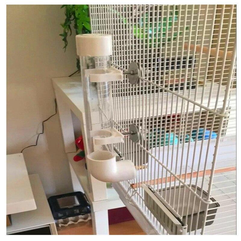 Birds Cage Feeder Food Water Feeding Automatic Drinker Parakeet Parrot Dispenser