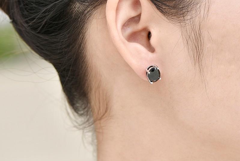 black stud earrings ,hot sale new earrings for women black NE79200F (5)