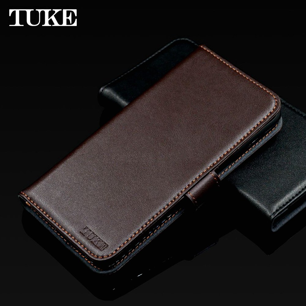 TUKE Luxury Genuine Leather Flip Case For Meizu Meilan A5 M710h Wallet Stand Leather Case Cover